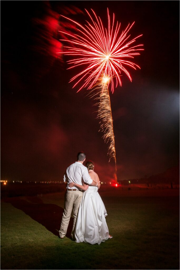 Wedding Fireworks at the Crystal Coast Country Club