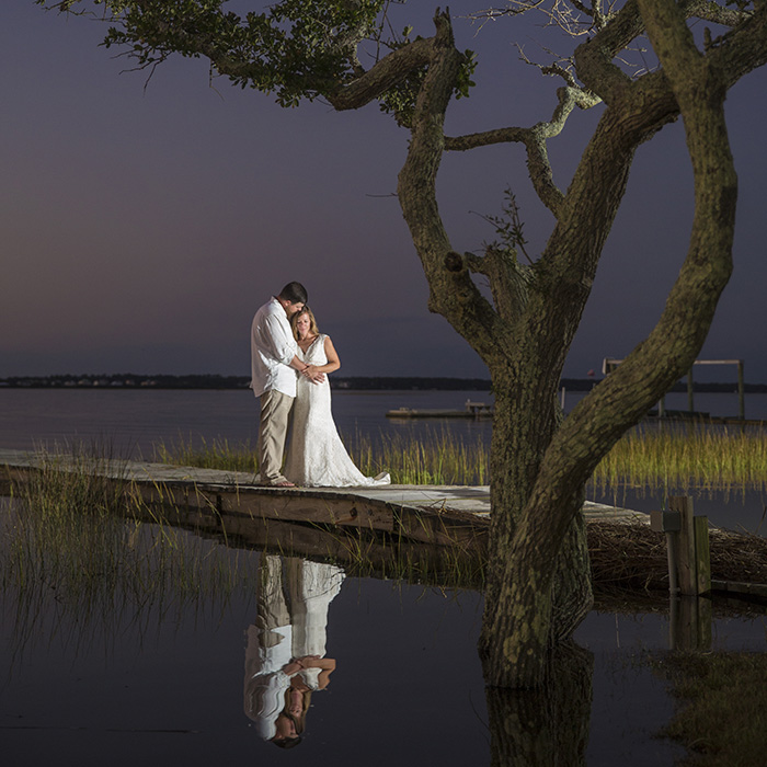 Emerald-Isle-wedding-dock-nc