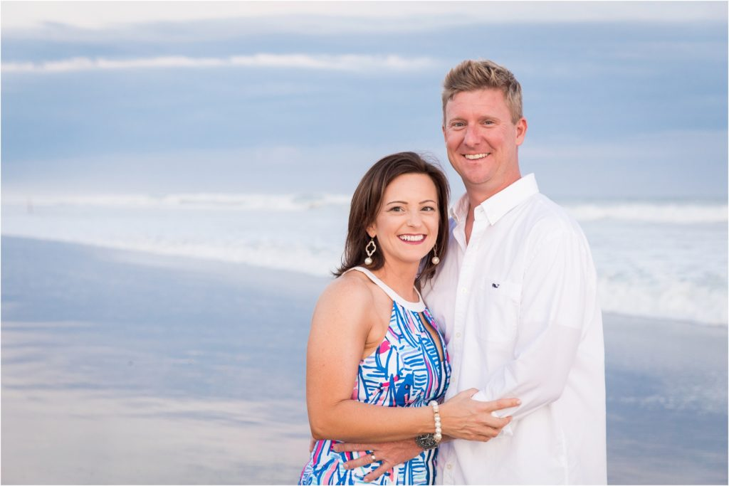 couple portrait on beach in Emerald Isle