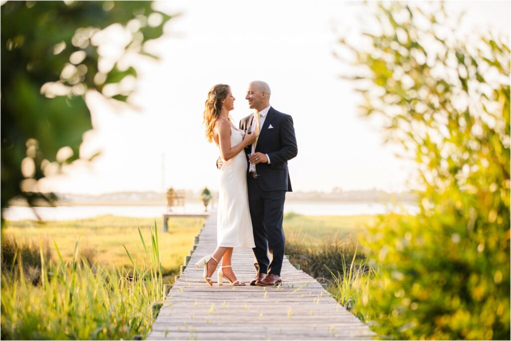 Small Wedding Ceremony on Dock In Emerald Isle NC
